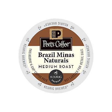 Peet's Coffee® Brazil Minas Naturais Coffee K-Cup® Pods, 2.8 Oz, Pack Of 22 Pods