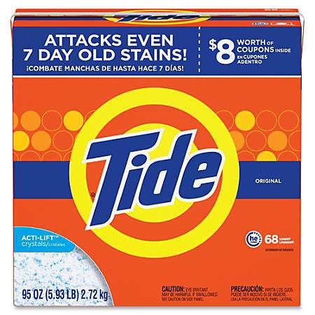Tide Powder Laundry Detergent - Concentrate Powder - 95 oz (5.94 lb) - Original Scent - 3 / Carton - Orange