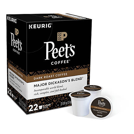 Peet's® Coffee Major Dickason's Blend Coffee Single-Serve K-Cup®, 2.8 Oz, Carton Of 22