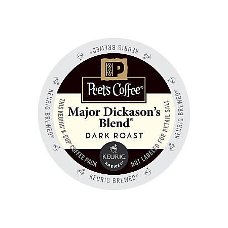 Peet's Coffee® Major Dickason's Blend Coffee K-Cup® Pods, 2.8 Oz, Box Of 22 Pods