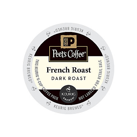 Peet's Coffee® French Roast Coffee K-Cup® Pods, 2.8 Oz, Pack Of 22 Pods