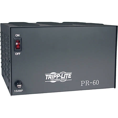 Tripp Lite DC Power Supply 60A 120VAC to 13.8VDC AC to DC Conversion TAA GSA - 300W