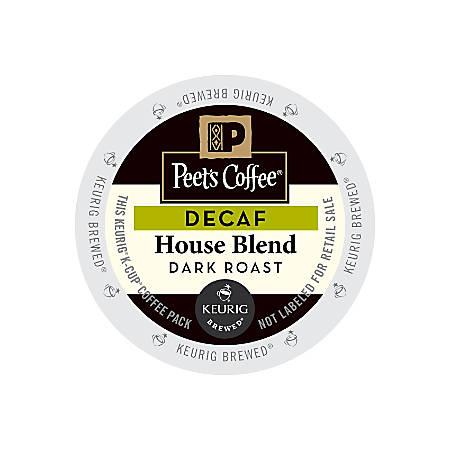 Peet's Coffee® Decaf House Blend Coffee K-Cups®, 2.8 Oz, Pack Of 22