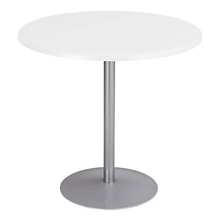 Safco® Entourage™ Table Base, Round, White/Silver