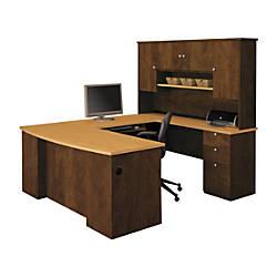 Bestar Manhattan U Shaped Workstation Secret Maple