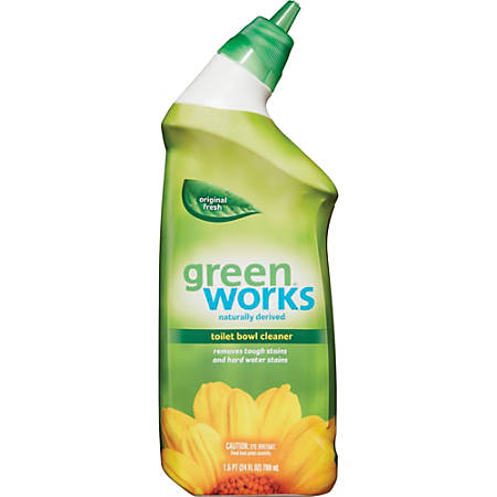 Green Works Toilet Bowl Cleaner - Gel - 0.19 gal (24 fl oz) - 1 Each - Clear