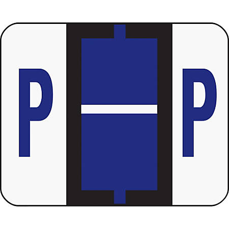 Smead® BCCR Bar-Style Permanent Alphabetical Labels, P, Violet, Roll Of 500