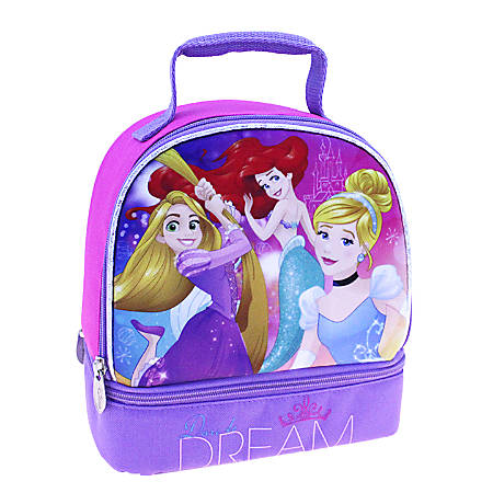 """Disney Girls' Princess And Frozen Lunch Kit, Dome, 8""""H x 8 1/2""""W x 5""""D, Pink/Purple"""