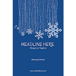 Adhesive Sign Snow Flakes Vertical