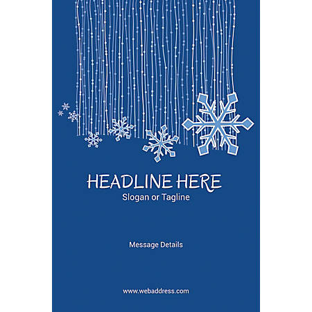 Adhesive Sign, Snow Flakes, Vertical