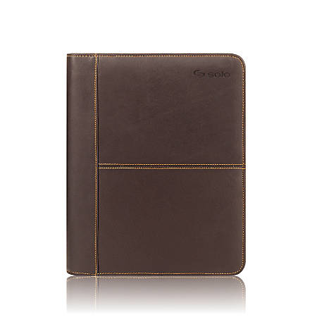 Solo® Universal Fit Padfolio For Select Tablets And eReaders, Espresso