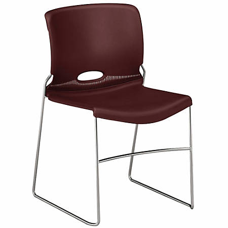 """HON® Olson Stacker® Chairs, 17 1/2""""H x 17 1/4""""W x 18 1/4""""D, Mulberry, Pack Of 4"""