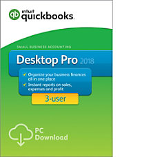 QuickBooks Desktop Pro 2018 For 3