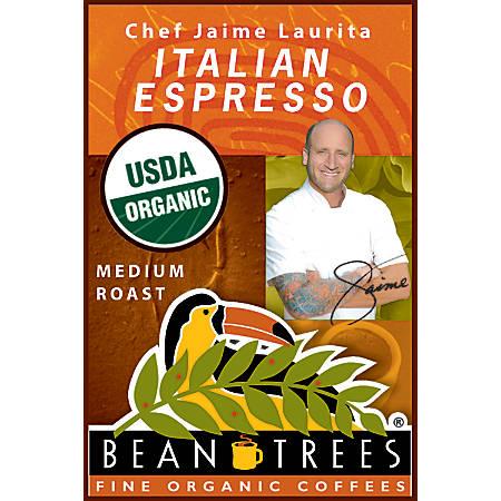 Beantrees Organic Chef Jaime Italian Espresso Whole Bean Coffee, 12 Oz
