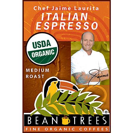 Beantrees Organic Chef Jaime Italian Espresso Ground Coffee, 12 Oz Bag
