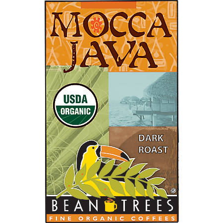 Beantrees Organic Mocca Java Whole Bean Coffee, 12 Oz