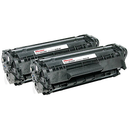 Office Depot® Brand OD12ADP (HP 12A / Q2612A) Remanufactured Black Toner Cartridges, Pack Of 2