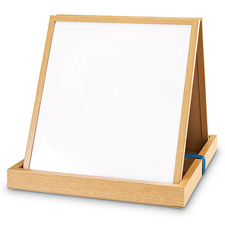 "Learning Resources Double-Sided Tabletop Easel, 17 3/4"" x 19 3/4"", Wood, Brown"