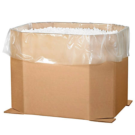 "Office Depot® Brand Triple-Wall Octagon Bulk Bins, 24""H x 38""W x 46""D, Kraft, Pack Of 5"
