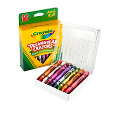Crayola Triangular Crayons Box of 16