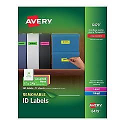 Avery Removable LaserInkjet Organization Labels AVE6479