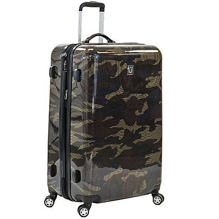 """ful Ridgeline ABS Upright Rolling Suitcase, 28""""H x 20 1/2""""W x 11 1/2""""D, Camouflage"""