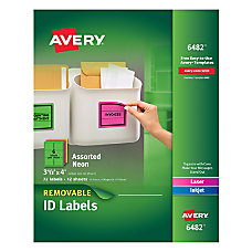 Avery Removable LaserInkjet Organization Labels AVE6482