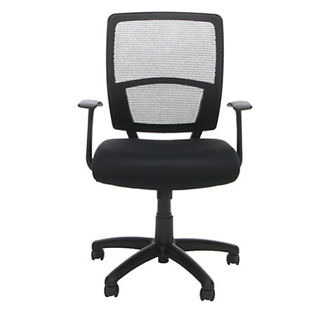 OFM Essentials Mesh High-Back Chair, Black/Black