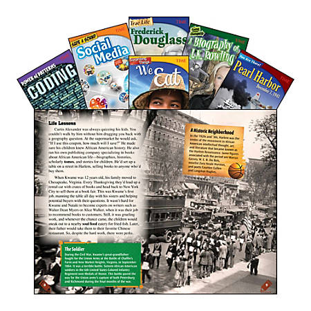 Teacher Created Materials TIME Informational Text Set, Set 2, Grade 8, Set Of 6 Books