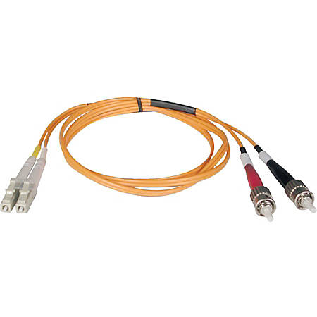 Tripp Lite 5M Duplex Multimode 62.5/125 Fiber Optic Patch Cable LC/ST 16' 16ft 5 Meter - ST Male - LC Male - 16.4ft - Orange