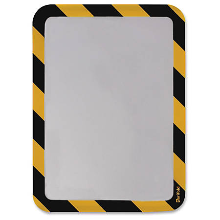 Tarifold Magneto Sign Frames with Inserts - 6 / Pack - Yellow, Black