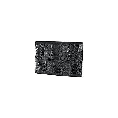 """Francine Collection Lexington Carrying Case (Sleeve) for 9.7"""" Tablet - Scratch Resistant Interior - Faux Leather - Black Snake, Embossed Pattern"""