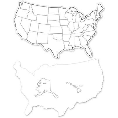 Creativity Street Large USA Maps Whiteboard - 12