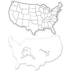 ChenilleKraft Large USA Maps Whiteboard 12