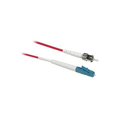 C2G-1m LC-ST 9/125 OS1 Simplex Singlemode PVC Fiber Optic Cable - Red