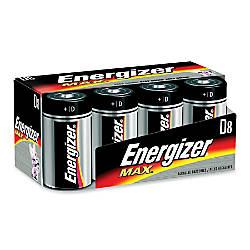 Energizer Max Alkaline D Batteries D
