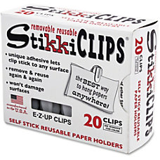 Advantus StikkiClips Adhesive Clips for Paper