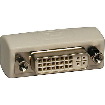 Tripp Lite DVI Coupler Gender Changer Adapter Connector Extender DVI-I F/F - 1 x DVI-I Female Video - 1 x DVI-I Female Video - Ivory
