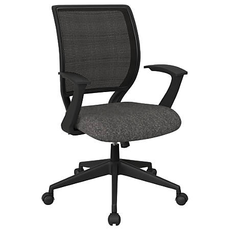 Office Star™ Work Smart Mesh Task Chair, Charcoal/Black