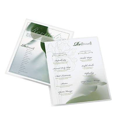 Office Depot® Brand Laminating Pouches, Letter Size, 5 Mil, Clear, Pack Of 50
