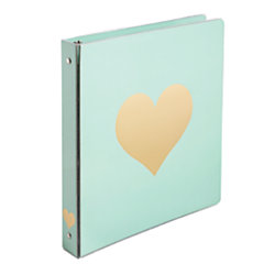 Divoga Hearts Collection Binder 1 Rings Gold Mint