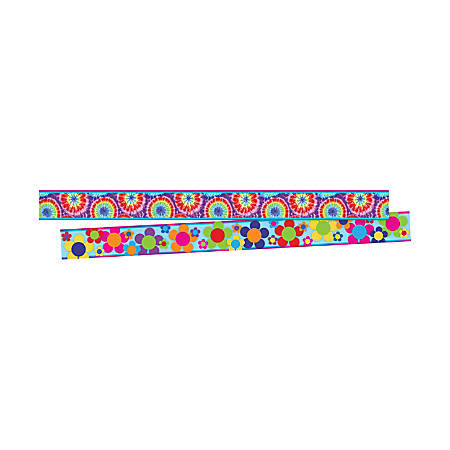 "Barker Creek Double-Sided Border Strips, 3"" x 35"", Tie Dye, Set Of 24"