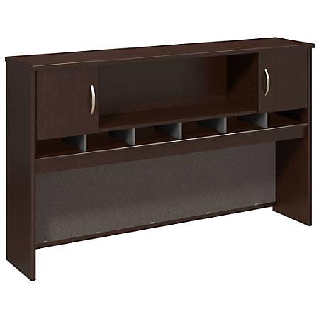"Bush Business Furniture Components 2 Door Hutch, 72""W, Mocha Cherry, Premium Installation"