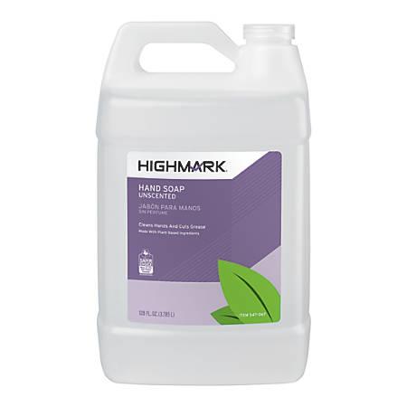 Highmark™ Hand Soap, Unscented, 128 Oz, Case Of 4