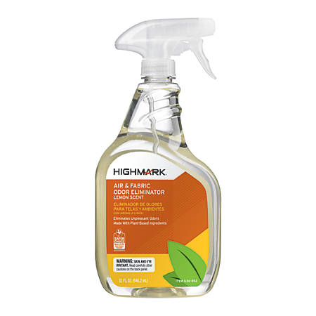 Highmark® Air & Fabric Odor Eliminator, Lemon Scent, 32 Oz, Case Of 12 Item  # 1501300