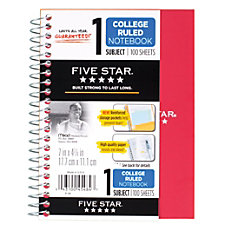 Five Star Notebook 5 x 7