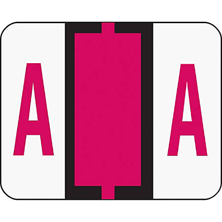 Smead® BCCR Bar-Style Permanent Alphabetical Labels, A, Red, Roll Of 500