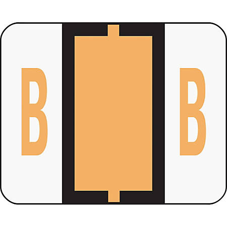 Smead® BCCR Bar-Style Permanent Alphabetical Labels, B, Light Orange, Roll Of 500