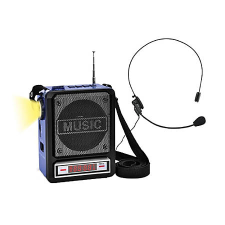 Technical Pro WASP100 Wireless Amplifier Speaker, Blue