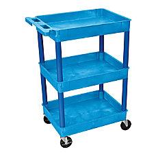 Luxor 3 Shelf Tub Cart 36